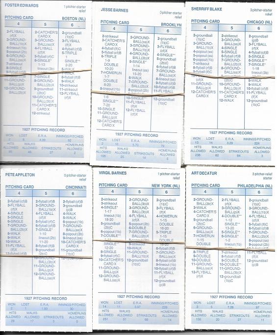 4381 Strat O Matic Baseball Game 1927 Re Season Cards