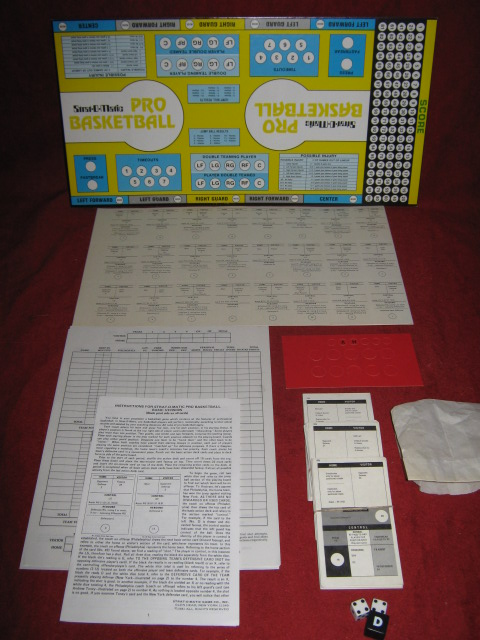 strat-o-matic basketball game parts 1984-85