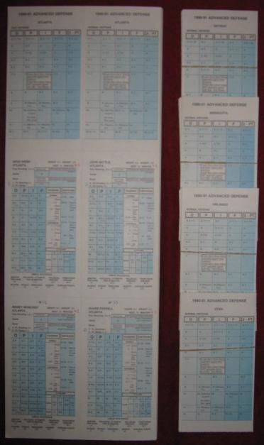 STRAT-O-MATIC BASKETBALL GAME 1990-91 cards
