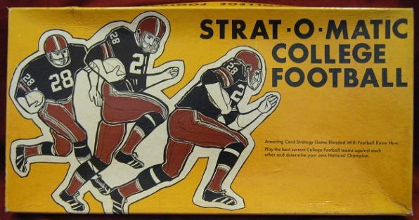 strat-o-matic COLLEGE FOOTBALL game box 1975