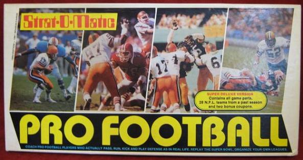 strat-o-matic football game box 1981