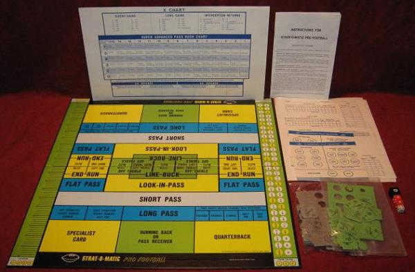 strat-o-matic football game parts 1982