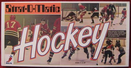 strat-o-matic hockey game box 1997-98