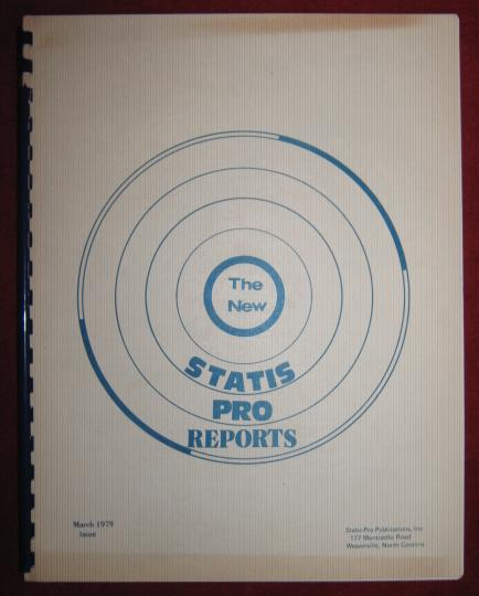 statis pro reports magazine issue march 1979
