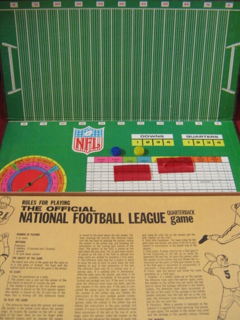 Standard Toykraft Official NFL FOOTBALL QUARTERBACK Game 1965 parts