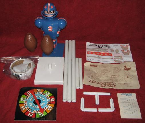 super jock super toe football game parts 1975