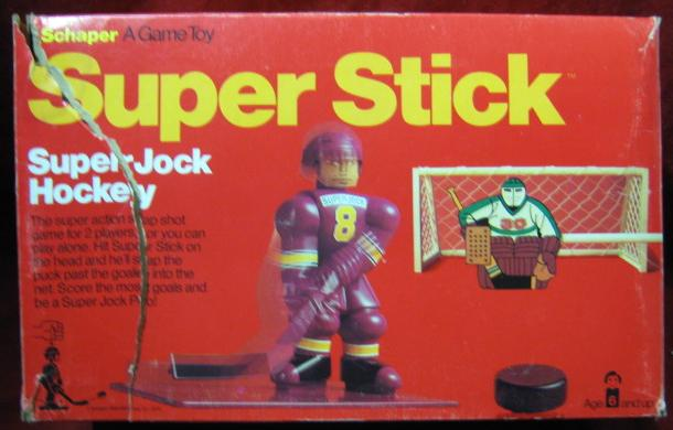 super jock super stick hockey game box 1976