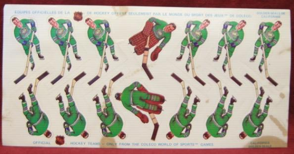 coleco table hockey team CALIFORNIA SEALS