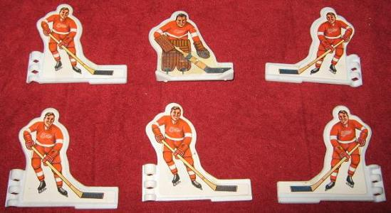 Coleco Table Hockey Game DETROIT RED WINGS Team 1970s Plastic