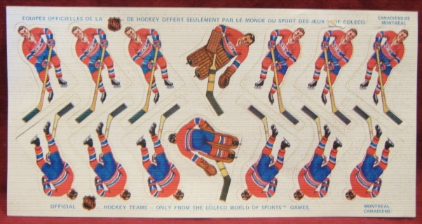 3288 Coleco Table Hockey Game Montreal Canadiens Team