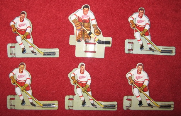 EAGLE TABLE HOCKEY GAME DETROIT RED WINGS Pro / Pee Wee TEAM 1950's Tin