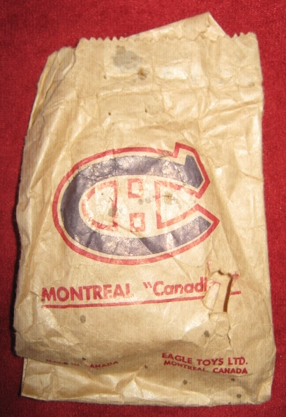 eagle table hockey game tin MONTREAL CANADIENS team bag