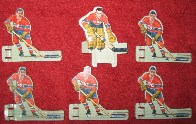 EAGLE TABLE HOCKEY GAME MONTREAL CANADIENS TEAM 1950's Tin