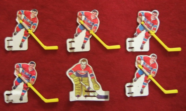 eagle tin with plastic stick table hockey team montreal canadiens