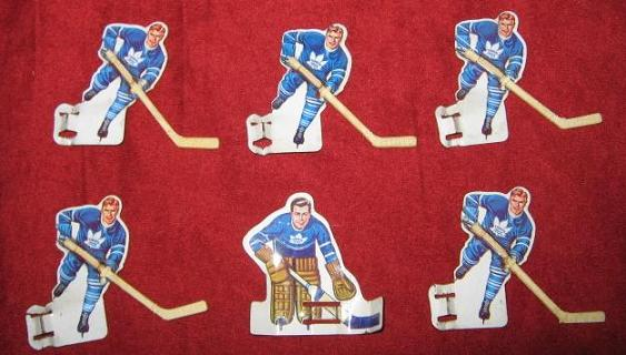 Eagle Table Hockey Game TORONTO MAPLE LEAFS Team Tin Plastic 1960s
