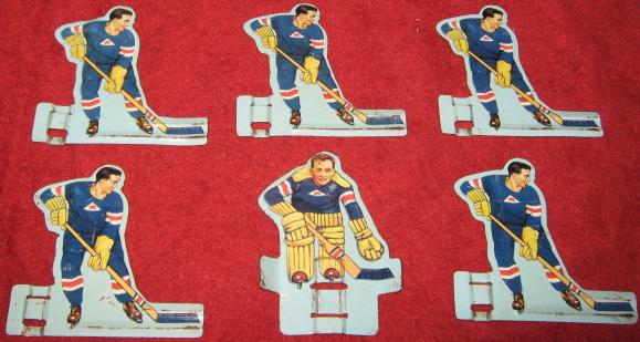 GOTHAM TABLE HOCKEY BLUE TEAM TIN 1950'S FRONT