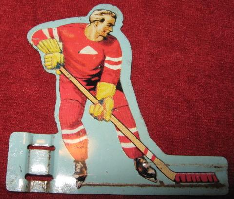GOTHAM TABLE HOCKEY GAME RED TEAM TIN 1950'S