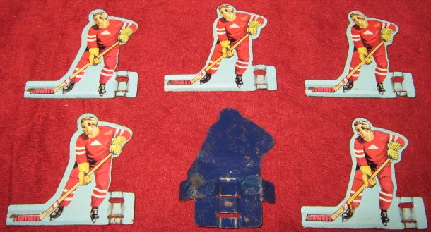 GOTHAM TABLE HOCKEY GAME RED TEAM TIN 1950'S BACK