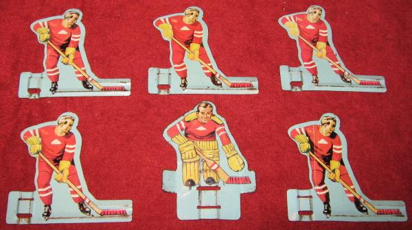 GOTHAM TABLE HOCKEY GAME RED TEAM TIN 1950'S FRONT