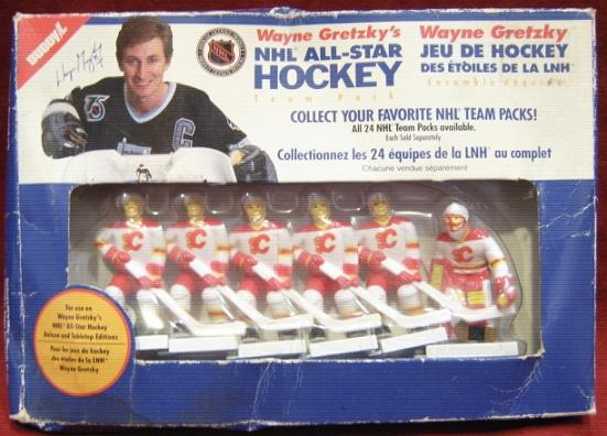 GRETZKY TABLE HOCKEY GAME Calgary Flame Team