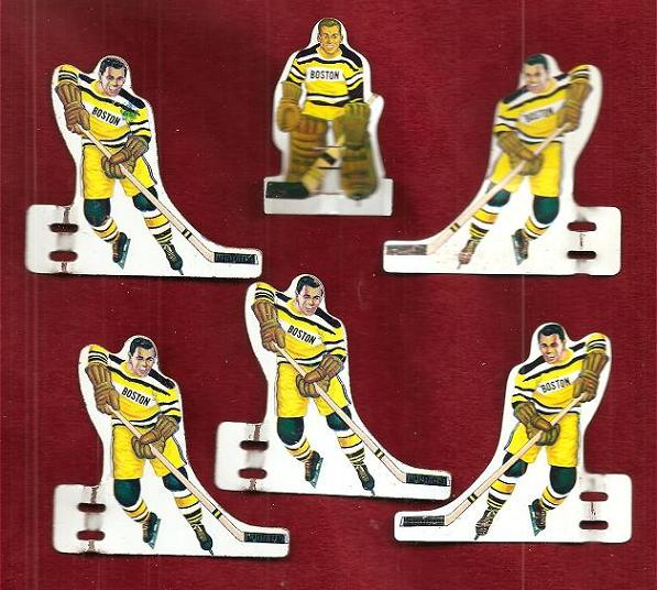 MUNRO Table Hockey Game BOSTON BRUINS Team Tin 1960s
