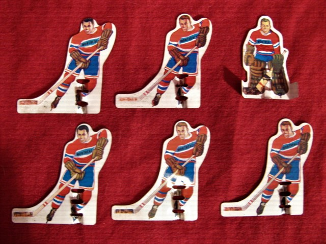 TUDOR MUNRO Table Hockey Game MONTREAL CANADIENS Shorty Team Tin 1960s