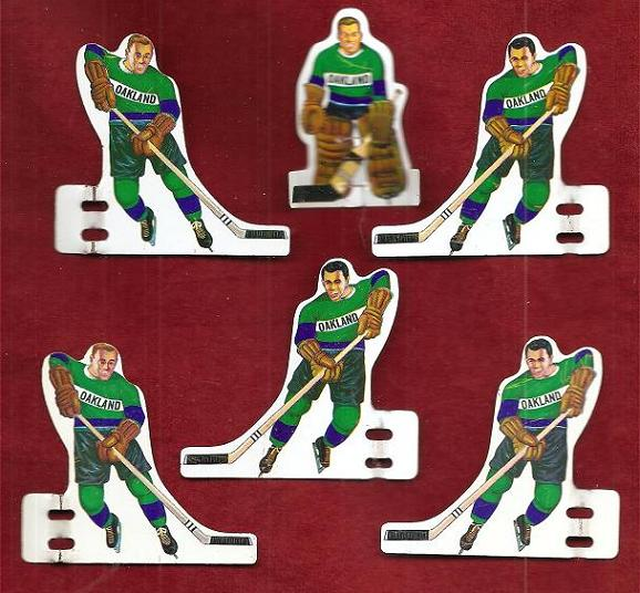 Munro Table Hockey Game OAKLAND SEALS Team tin 1960s