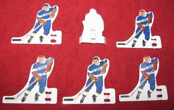 MUNRO Table Hockey Game ST LOUIS BLUES Team Tin 1960s