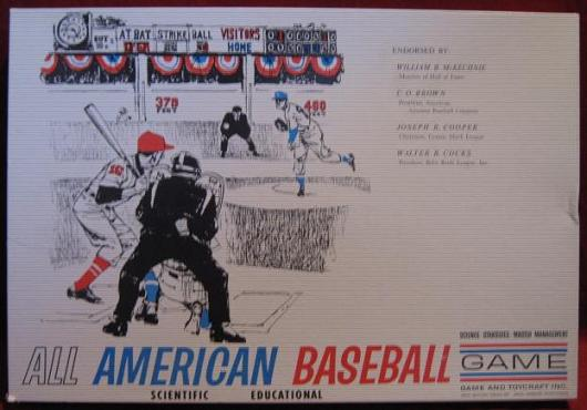 Toycraft ALL AMERICAN BASEBALL Game 1962