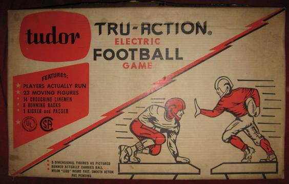 tudor electric football game box