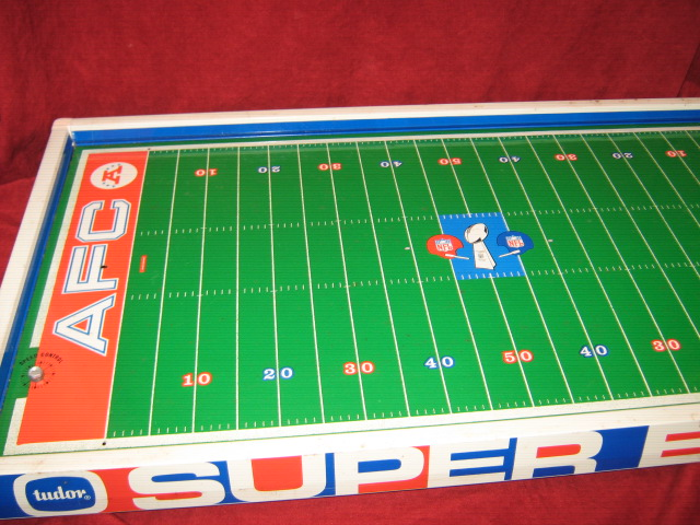 tudor electric football game super bowl 5 field close-up 1