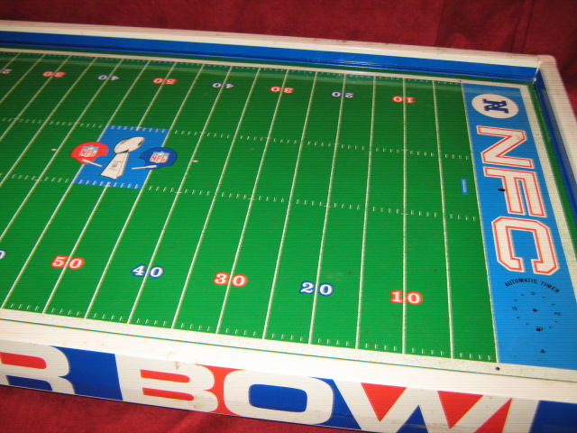 tudor electric football game super bowl 5 field close-up 2