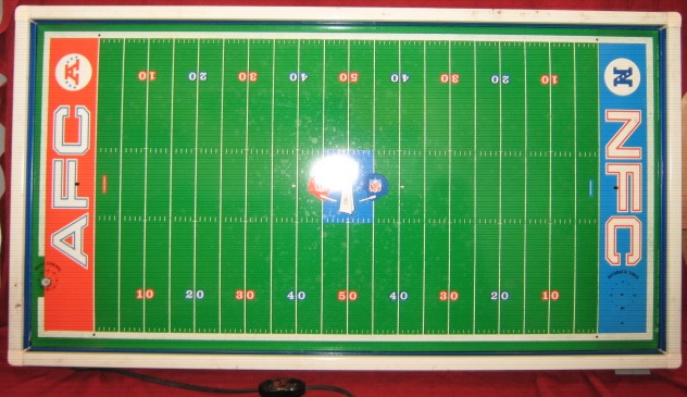 tudor electric football game field super bowl 5