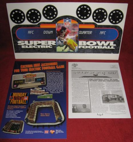 tudor electric football game parts