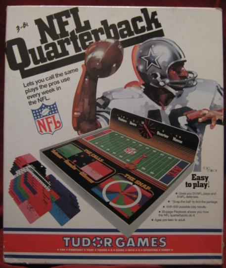 tudor nfl quarterback football game box 1977