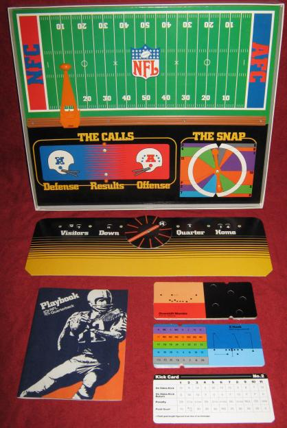 tudor nfl quarterback football game parts 1977