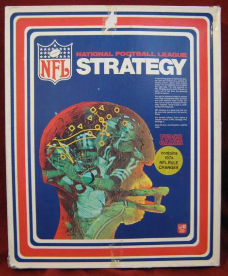 tudor nfl strategy football game box 1974