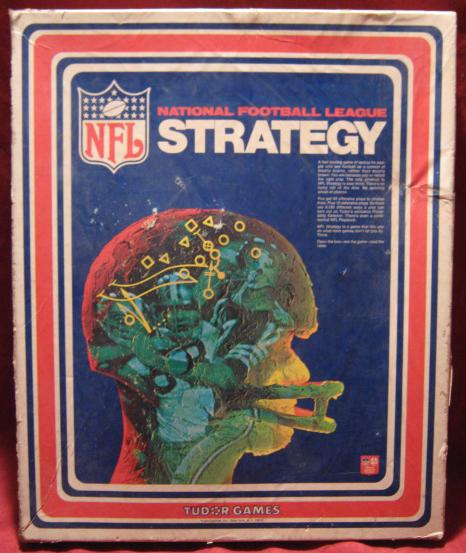 tudor nfl strategy football game 1976 edition box