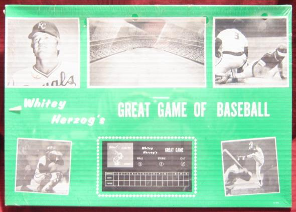 whitey herzog great game of baseball game box