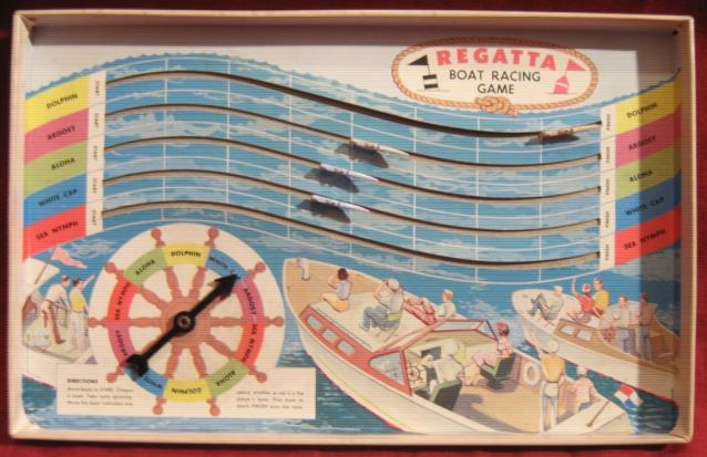 Whitman REGATTA SPEED BOAT Racing Game 1958