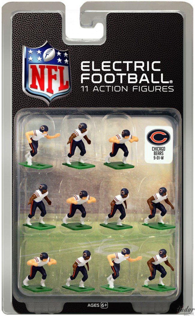 tudor electric football team CHICAGO BEARS WHITE JERSEY
