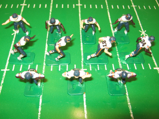 tudor electric football team CHICAGO BEARS WHITE JERSEY HK81