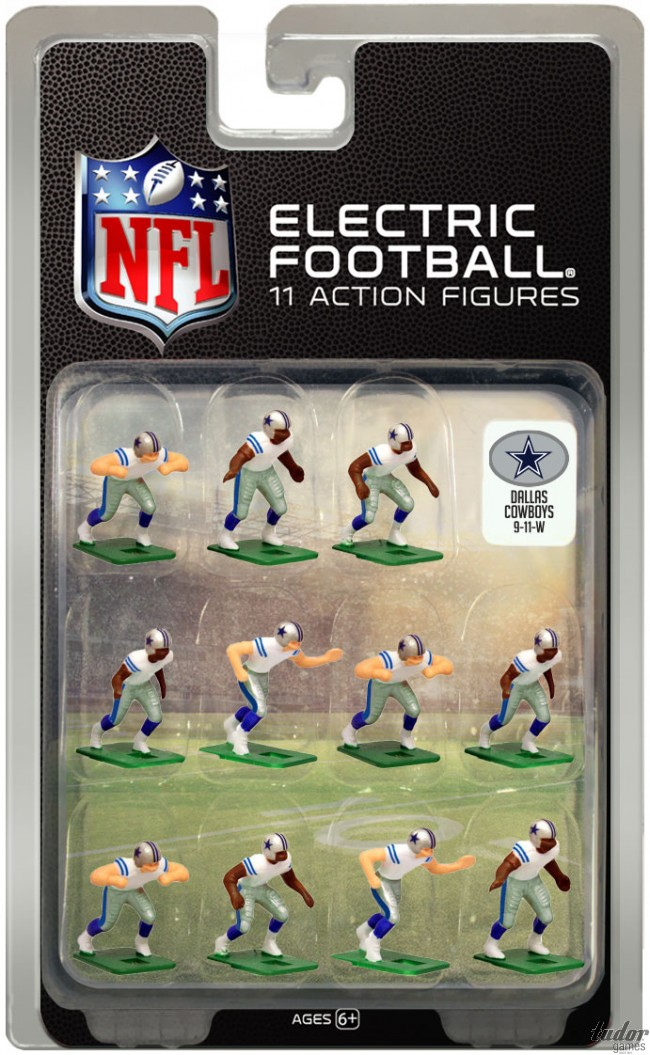 tudor electric football team DALLAS COWBOYS WHITE JERSEY