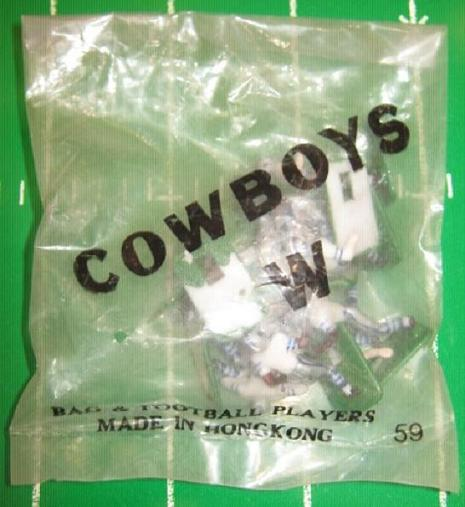 tudor electric football team DALLAS COWBOYS WHITE JERSEY HK71CL