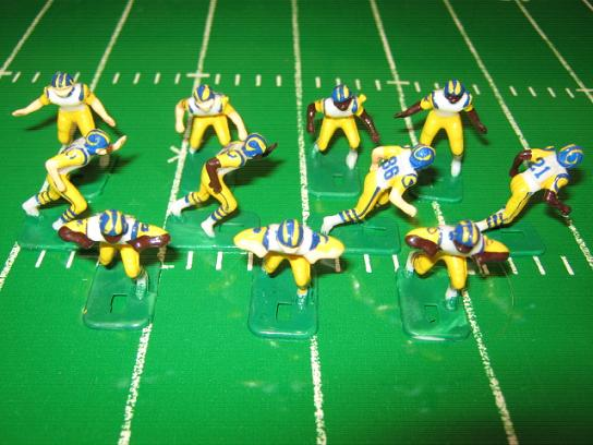 tudor electric football team LOS ANGELES RAMS WHITE JERSEY HK81