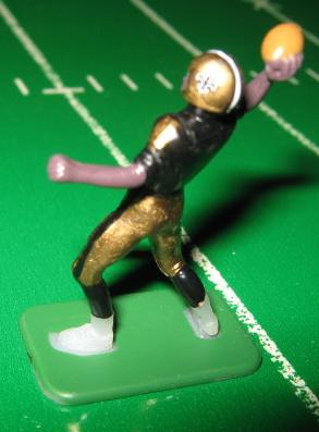 tudor electric football quarterback figure NEW ORLEANS SAINTS dark