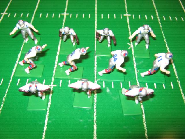 Tudor Electric Football Team NEW ENGLAND PATRIOTS White Jersey CH90