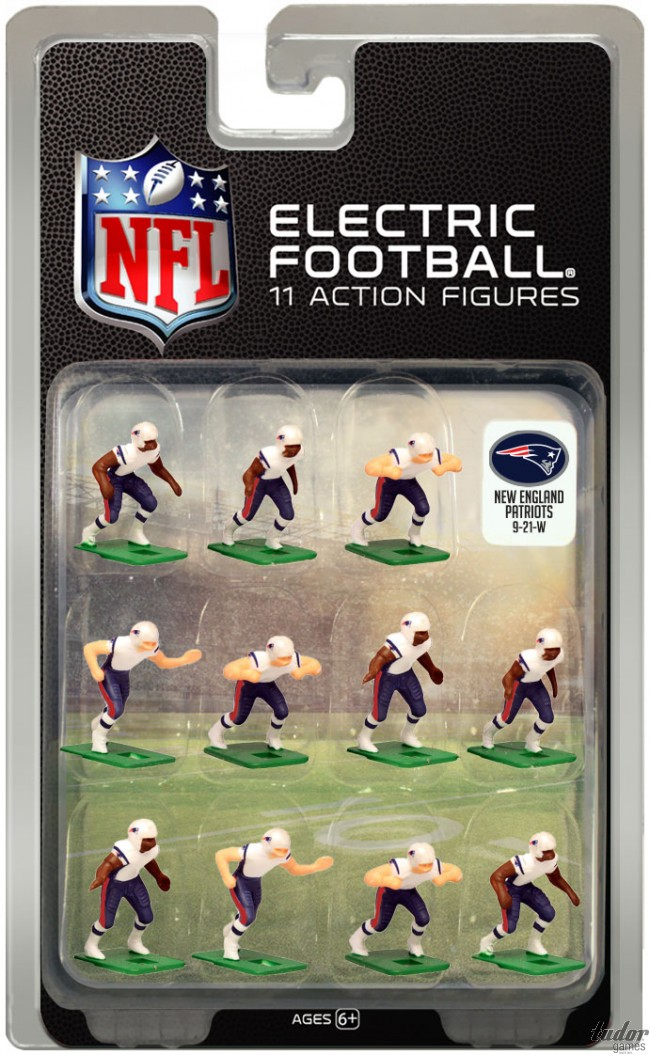 tudor electric football team NEW ENGLAND PATRIOTS WHITE JERSEY