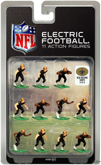 Tudor Electric Football Team NEW ORLEANS SAINTS Dark Jersey CURRENT