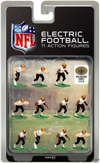Tudor Electric Football Team NEW ORLEANS SAINTS White Jersey CURRENT